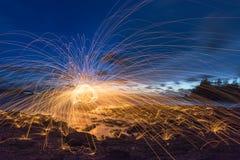 Lana d'acciaio ballante Fotografia Stock