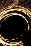 Lana d'acciaio di filatura su fuoco Fotografia Stock Libera da Diritti