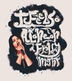 Lana Del Rey Design For T-tröja royaltyfri illustrationer
