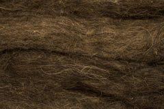 Lana del ` s delle pecore di Brown per struttura della feltratura Fotografie Stock