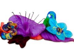 Lana della feltratura, prodotti della lana Fotografia Stock Libera da Diritti