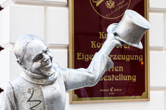 Lana żelazna statua Schoner Nacja w Bratislava Fotografia Royalty Free