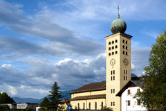 Lana near Merano. Beautiful church in Lana, near Merano Bolzano south tyrol Stock Photo