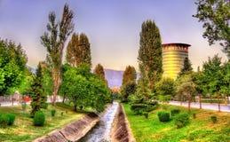 The Lana river in Tirana Stock Photo