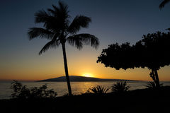 Lanai from Maui. Photo of Lanai taken from Baby Beach on Maui Stock Photography