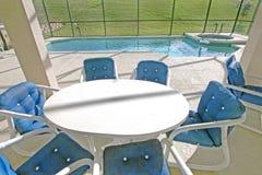 Lanai and Pool. A Swimming Pool, Spa and Lanai in Florida Royalty Free Stock Image
