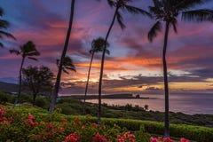 Lanai Sunrise. Sunrise over Menele Bay on the island of Lanai, Hawaii Stock Images