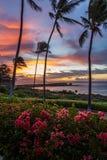 Lanai Sunrise. Sunrise over Menele Bay on the island of Lanai, Hawaii Royalty Free Stock Photos