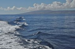 Lanai by Water. View of Lanai from the Kalohi Channel Stock Image