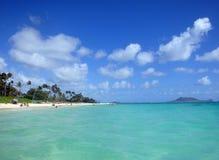 Lanikai Beach. Kailua, Oahu, Hawaii on the windward shore Stock Photography