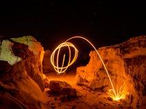 Lanas de acero que hacen girar - rocas de Colorado Foto de archivo