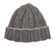 Lanas de la gorrita tejida del sombrero Fotos de archivo libres de regalías