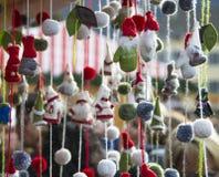 Lanas de las muñecas de Santa Claus Imagenes de archivo