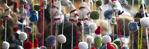 Lanas de las muñecas de Santa Claus Imagen de archivo libre de regalías