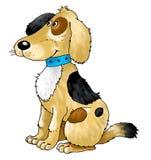 Lanas del cuello del entrenamiento del guardia del amigo del perro Fotos de archivo libres de regalías