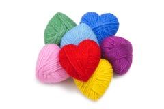 Lanas hearts-12 Foto de archivo