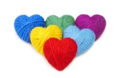 Lanas hearts-13 Fotografía de archivo libre de regalías