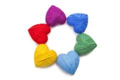 Lanas hearts-16 Fotografía de archivo libre de regalías
