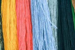 Lanas multicoloras Imágenes de archivo libres de regalías