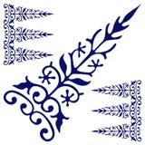 Lanca ornamentu zmrok - błękitny rocznik Zdjęcia Stock