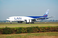LanCargo Boeing 777-200F lands Royalty Free Stock Images