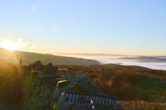 Lancashire причаливает на зоре Стоковые Фото