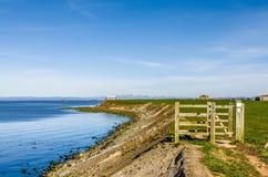 The Lancashire coastal path near Cockersand Abbey. Royalty Free Stock Image