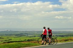 Lancashire cyclists Stock Photography