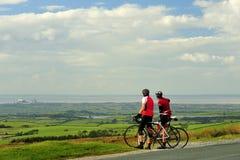 Lancashire cyklister Arkivbild