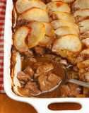 Lancashire Hotpot. Straight out of the oven Stock Photos