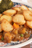 Lancashire Hotpot. Traditionally made from lamb topped with sliced potatoes Royalty Free Stock Photography