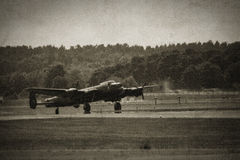 Lancaster Bomber Stock Photo