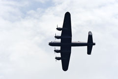 Lancaster bomber from below Stock Photo