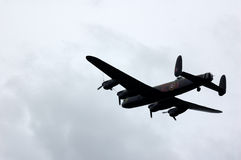 Lancaster bomber in flight Royalty Free Stock Photos