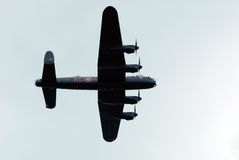 Lancaster bomber Normandy 2014. Lancaster bomber. Normandy 2014, anniversary D-Day stock photo