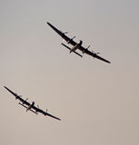 Lancaster bombers. Southport, Merseyside,UK.  21st September 2014. Pair of Lancaster Bombers at the Southport Airshow Stock Photography