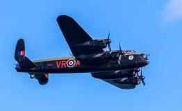Lancaster bombplan CG-VRA royaltyfri fotografi