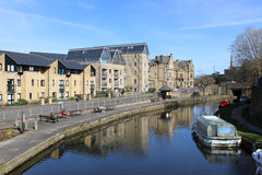 Lancaster canal and Aldcliffe Road, Lancaster Stock Photography