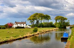 Lancaster canal at Condor Green Royalty Free Stock Photography