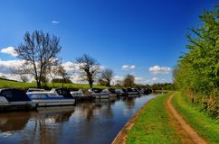 Lancaster canal, Galgate Royalty Free Stock Image