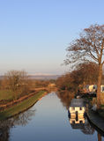 Lancaster Canal near Cabus, Lancashire, UK Stock Images