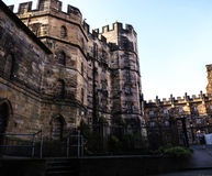 Lancaster castle in England is in the Centre of the City. Long existing as a commercial, cultural and educational centre, Lancaster is the settlement that gives stock photos