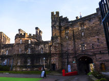 Lancaster Castle and the former Prison in England is in the Centre of the City. Long existing as a commercial, cultural and educational centre, Lancaster is the royalty free stock photography