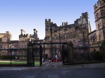 Lancaster Castle and the former Prison in England is in the Centre of the City. Long existing as a commercial, cultural and educational centre, Lancaster is the royalty free stock images