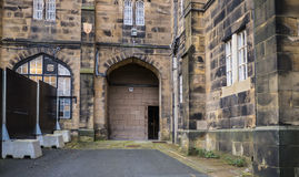 Lancaster Castle and the former Prison in England is in the Centre of the City Royalty Free Stock Image