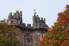 Lancaster castle gates Royalty Free Stock Image