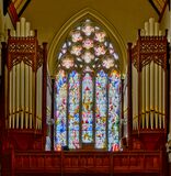 Lancaster Cathedral Te Deum Window Stock Photography