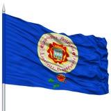Lancaster City Flag on Flagpole, USA Stock Photos