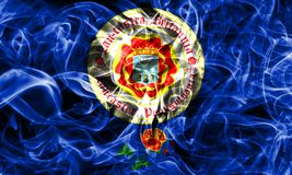 Lancaster city smoke flag, Pennsylvania State, United States Of. America Stock Image