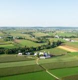 Lancaster County Ackerland von oben Lizenzfreie Stockbilder
